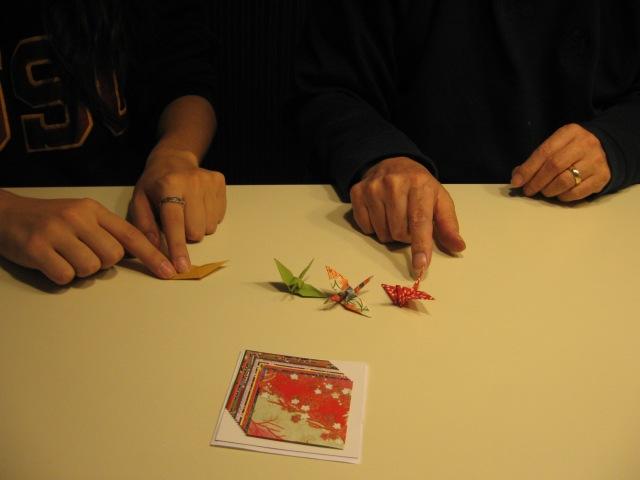 Tiny origami cranes